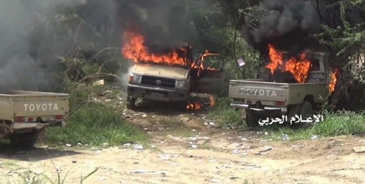 سه خودروی نظامی ارتش سعودی در مرز یمن منهدم شد
