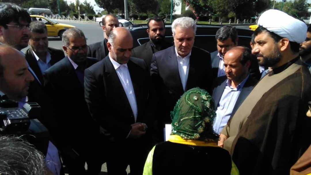 وزیر میراث فرهنگی، گردشگری و صنایع دستی وارد ملایر شد