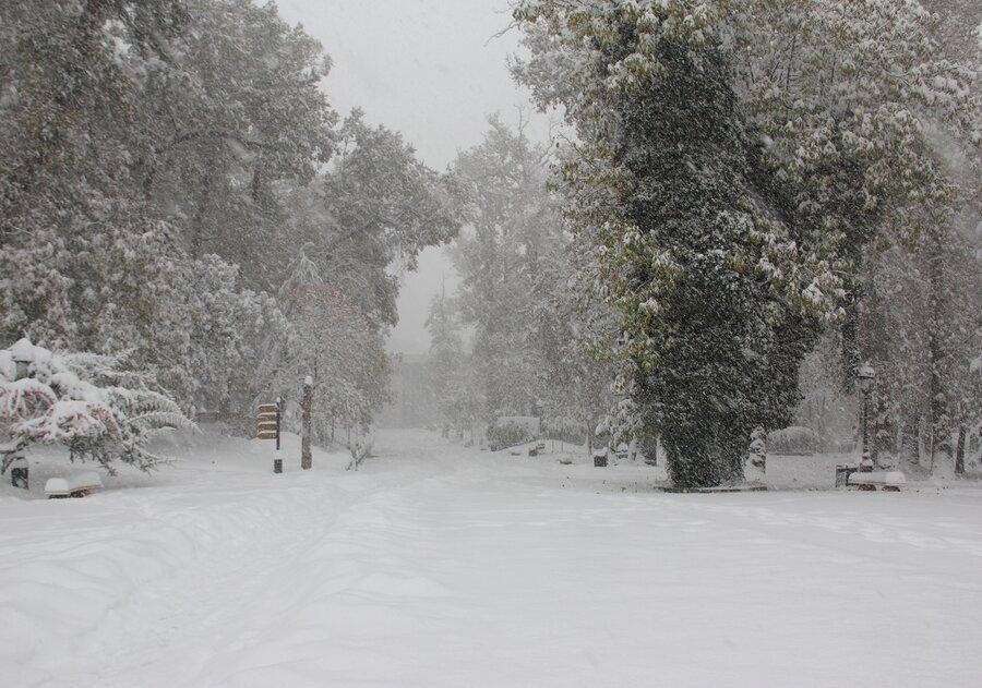 بارش برف در جاده های 4 استان کشور ، ضرورت تردد با زنجیر چرخ