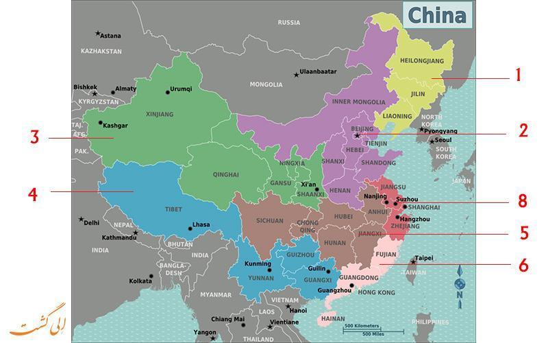 راهنمای کامل نقشه کشور چین